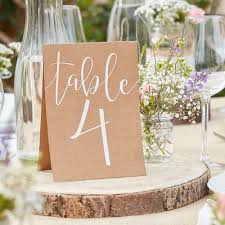 Rustic Table Numbers Tent Cards 1 12 By Favour Lane