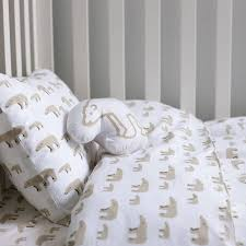 mother and baby bear cot bed duvet set