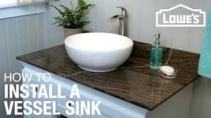 Sink Bowls On Top Of Vanity Make Vessel78