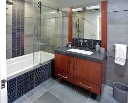 contemporary sliding shower doors. frameless barn sliding shower door bathroom contemporary with tub deck mosaic tiles doors