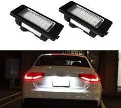 Audi A3 Led License Plate Lights Ijdmtoy Oem Fit 3w Full Led License Plate Light Kit For Audi A4 A5 A6 A7 S4 S5 S6 S7 Rs4 Rs5 Rs7 Q5 Q7 Powered By 24 Smd Xenon White Led Can Bus