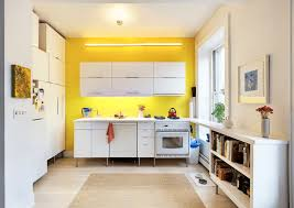 Yellow And Brown Kitchen Kitchen Small Kitchen Decorating Ideas With Wooden White Cabinet