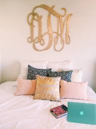 Love Wall Decor Bedroom Perfect Preppy Cozy Bedroom Love The Monogram And Pillows