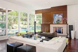living room interior design glass walls