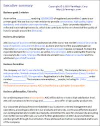 executive business plan template executive summary example business plan kays makehauk co