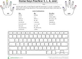 Keyboard Finger Position Chart Typing 101 Introduction To Home Keys And Finger Placement