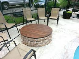 fire pit table cover this is our with a gas insert and wooden that premium sunlight