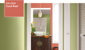 Coral Bedroom Paint Color Of The Year Coral Reef Sw 6606 By Sherwin Williams