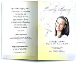 Funeral Service Templates Word Adorable Free Memorial Service Program Template Sample Catholic Funeral