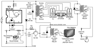 telephone line based audio muting and light on circuit electronica telephone line based audio muting and light on circuit diagram