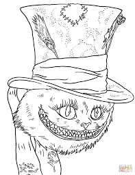 Small Picture Tim Burtons Cheshire Cat coloring page Free Printable Coloring