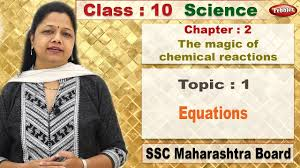 class 10 science chapter 2 the magic of chemical reactions topic 1 equations pebbles ssc maharashtra syllabus