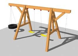 this simple but fun timber frame swing set would be a great beginner s project your kids will love playing with wver you can dream up to hang from the