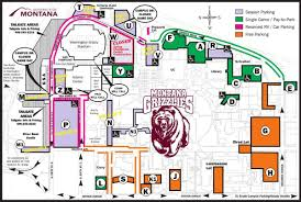 Montana Game Day Parking Map Um Grizzlies 406mtsports Com