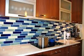 kitchen blue glass backsplash. Kitchen: Backsplash Ideas For Kitchen With Blue Glass Tile P