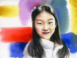 children painter eye beauty image emotion photo shoot children s women s portrait watercolor figure paintings watercolor portrait