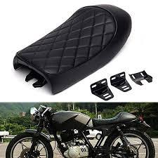 tris motorcycle hump black vine retro cafe racer saddle seat bench seats for honda cb1300 cb350