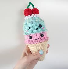 big ice cream cone amigurumi pattern by super cute design