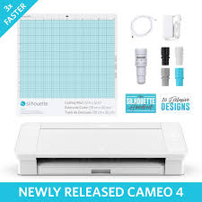 Silhouette Designs For Sale Amazon Com Silhouette Cameo 4 White Edition Electronics