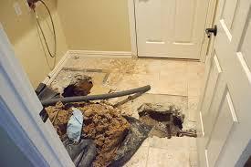 leaking slab foundation water seeping