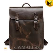 leather flap backpack cw907015 cwmalls com