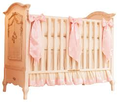champagne and ivory victorian baby bedding ivory and pink silk crib bedding