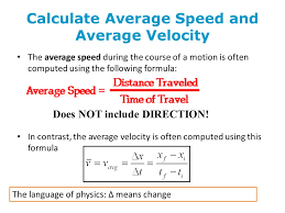 calculate average sd and average velocity