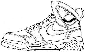 Michael jordan free coloring pages are a fun way for kids of all ages to develop creativity, focus, motor skills and color recognition. Air Jordan Shoe Coloring Pages Printable 1 Air Jordans Jordans Sneakers Sketch