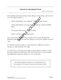 Sample Parental Consent Letter For Travel Example Beautiful Ideas