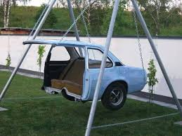 Small Picture Garden swing made of half a car funny design Interior Design