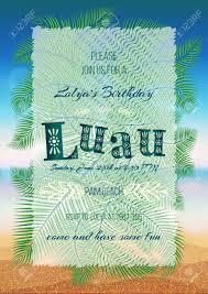 Luau Flyer Hawaiian Party Luau Feast Poster Flyer Invitation Template