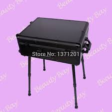 to singapore msia and other asia countries aluminum makeup table studio with mirror lights trolley and legs in cosmetic bags cases