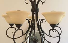 kitchen lighting medium size chandelier light fixture makeover with chalk paint bees in a pod brass