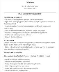 Marketing Assistant Resume Magnificent Sales Assistant Resume Templates 60 Free Word PDF Format Download