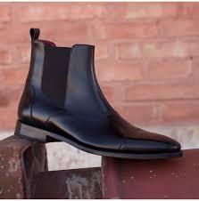 rebelsmarket handmade men black chelsea boots men ankle boots men leather boots boots 4 1