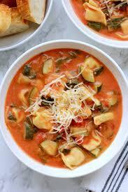 tomato tortellini soup ready to eat