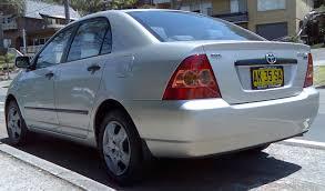 File:2004-2007 Toyota Corolla (ZZE122R 5Y) Ascent sedan 02.jpg ...