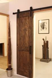 Interior:Refreshing Home With Traditional Barn Door Feat Black Rustic Door  Handle Interior Refreshing Home