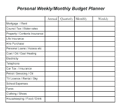 Weekly Budget Forms Free Printable Monthly Budget Worksheet Excel Template For Resume