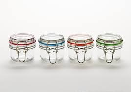 mini glass favor jars with clamp lids lamp design ideas
