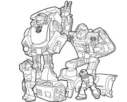 transformers rescue bots chase and boulder coloring pages bot page