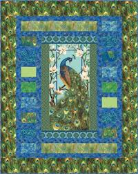 northcott peacock paradise pattern | patterns can be purchased ... & northcott peacock paradise pattern | patterns can be purchased through your  local quilt shop other patterns Adamdwight.com