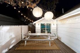 terrific outdoor festoon lighting decorating ideas images