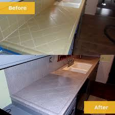 before after tile countertops resurface