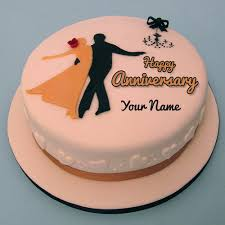 Images Of Anniversary Cakes With Name Editor Floweryred2com