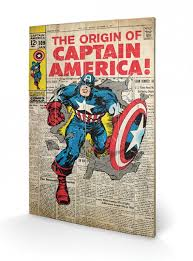 marvel the origin of captain america wooden wall  on marvel comics wall art uk with marvel the origin of captain america wooden wall art officially