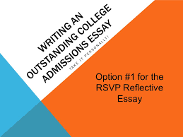 rsvp running start virtual project lesson the reflective  writing an outstanding college admissions essay