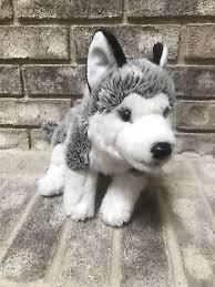 toys r us siberian husky wolf puppy dog plush 14 blue eyes stuffed 2016