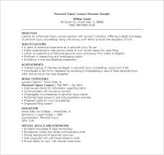 Personal Injury Lawyer Resume Template