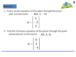 find a vector equation of the plane through the point with normal vector